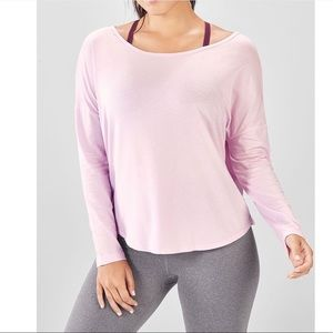FABLETICS Alyona Pleated Long Sleeve T-Shirt